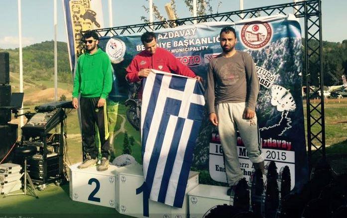 Τρεις φορές ακούστηκε ο Εθνικός μας Ύμνος στoυς αγώνες Enduro στην Kastamonou της Τουρκίας.